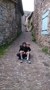 Ollie and Tom at Montsegur