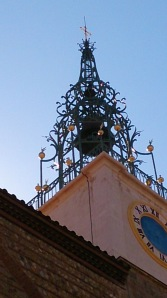 The unusual bell tower on the cathedral